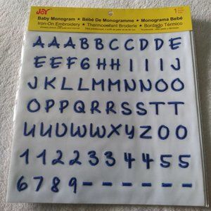Blue Iron on letters (brand new)